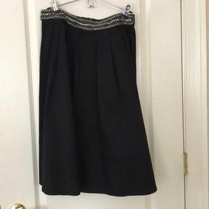 Dresses & Skirts - Long black skirt with a beaded belt